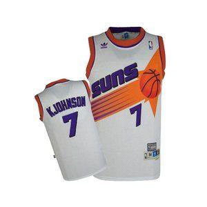 Shirts - Phoenix Suns 7 Kevin Johnson White Jersey